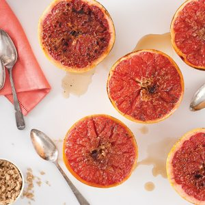 Roasted Grapefruit with Pecan Sugar