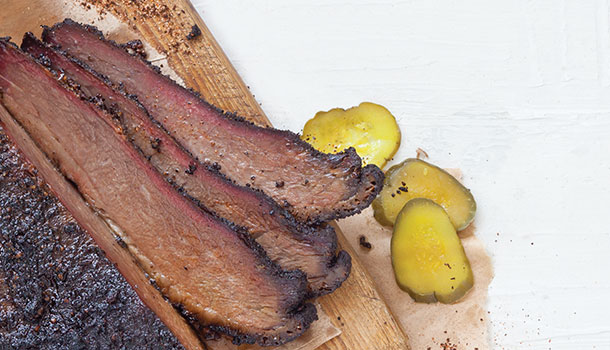 Mesquite-Smoked Coffee Chipotle Rubbed Brisket