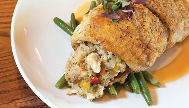 Louisiana Blue Crab Stuffed Flounder Recipe