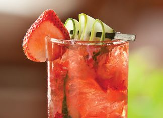 Strawberry Cucumber Cooler Cocktail
