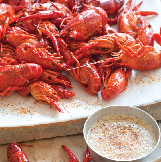 Grilled Crawfish With Spicy Butter