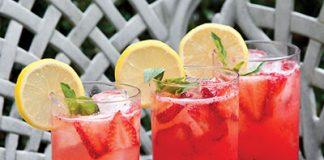 Strawberry-Basil Lemonade Cocktail