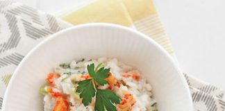crawfish and fava bean risotto