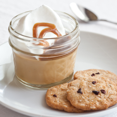 Butterscotch Pudding with Toffee-Espresso Sauce