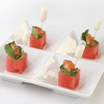 Watermelon with Tomato Fillet and Meyer Lemon Vinaigrette