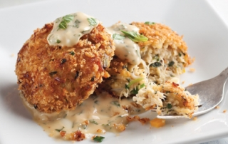 Crab Cakes with Thai Basil Aioli