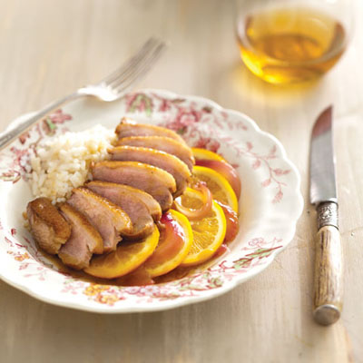 Duck with Satsuma and Red Onion