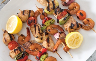 Tailgating Shrimp and Chicken Kabobs