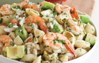 Crab Shrimp and Artichoke Pasta Salad