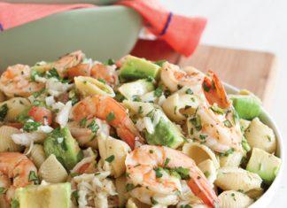 Crab Shrimp and Artichoke Pasta Salad