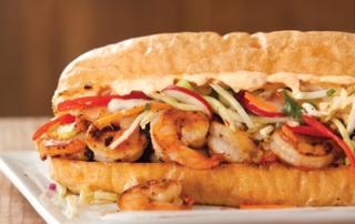 Grilled Shrimp Po-Boy with Asian Slaw