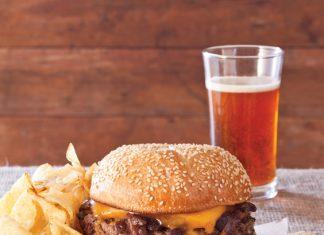 short rib cheese burger
