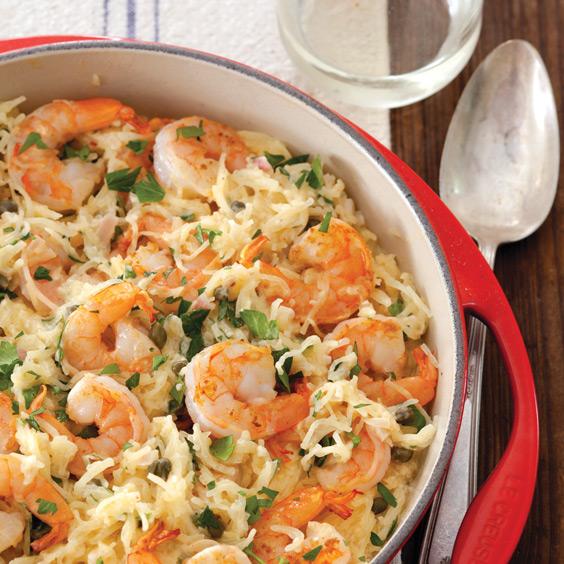 Spaghetti Squash Shrimp Scampi Recipe