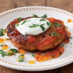 Sweet Potato Cakes with Pepper Jelly Drizzle