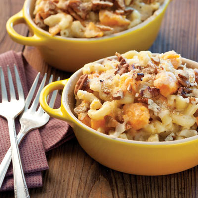 Cheesy Sweet Potato Mac and Cheese