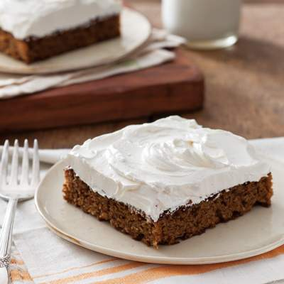 Sweet Potato Cake with Honey Swiss Buttercream