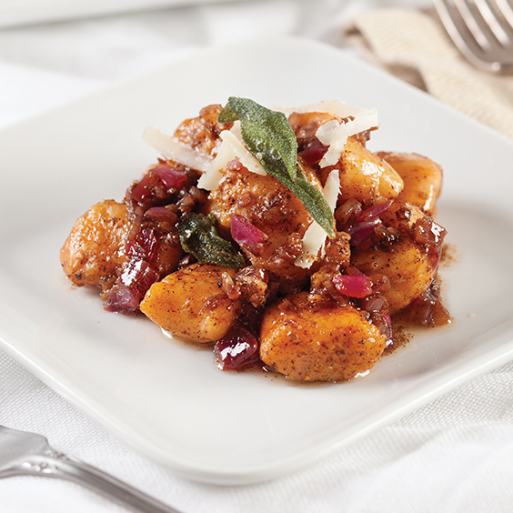 Sweet Potato Gnocchi with Balsamic Sage Brown Butter