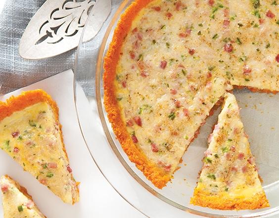 Piquant Sweet Potato Quiche