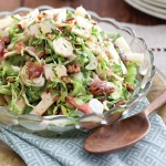 Cajun-Creole Thanksgiving Shaved Brussels Sprouts with Bacon Vinaigrette