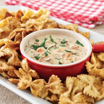 permalink crawfish dip with fried bow tie pasta appetizers crawfish ...