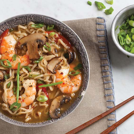 Gingery Broth with Shrimp