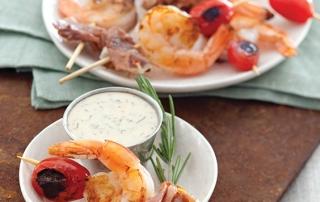 Prosciutto Shrimp Skewers