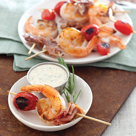Prosciutto Shrimp Skewers