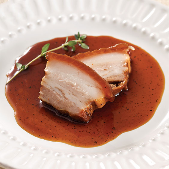 Coffee and Honey Braised Pork Belly