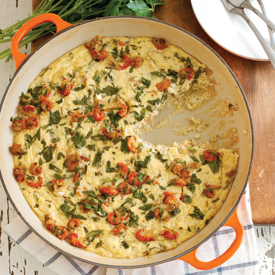 Crawfish and Stone-ground Grits Gratin