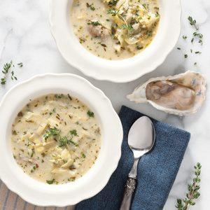 Oyster Artichoke Soup