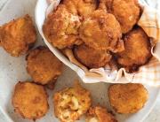 Crawfish Macaroni and Cheese Fritters