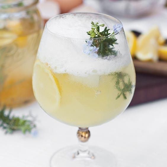 Rosemary Lemon Gin Fizz