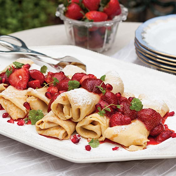 Creole Cream Cheese Crepes