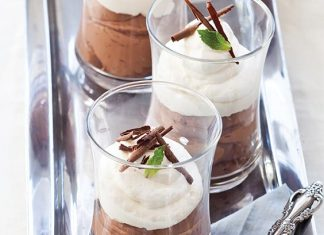 Chocolate Mousse with Rum Whipped Cream