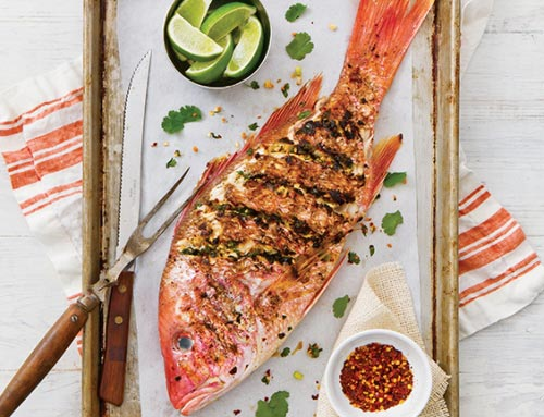Grilled Asian Red Snapper