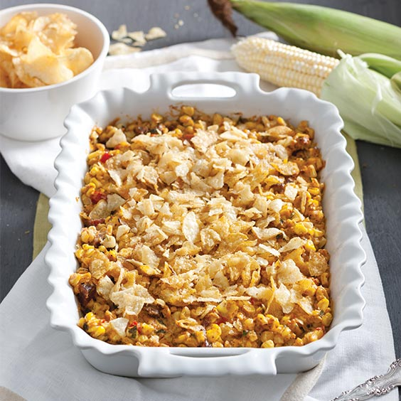 SPICY TASSO AND  CORN CASSEROLE