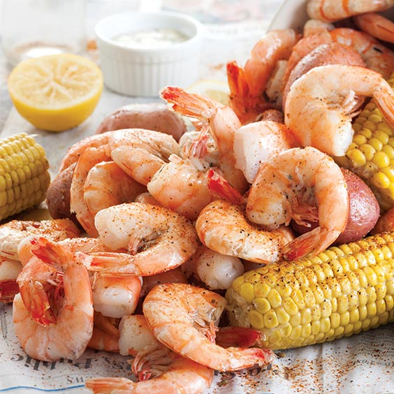 Shrimp Boil With White Remoulade Sauce