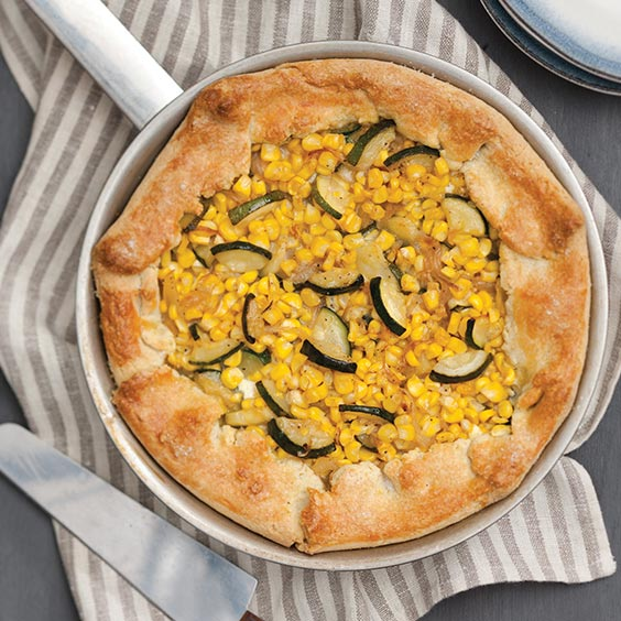 Corn and Zucchini Crostada