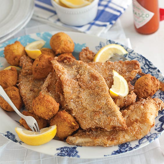Fried Catfish with Cracked Rice Crust