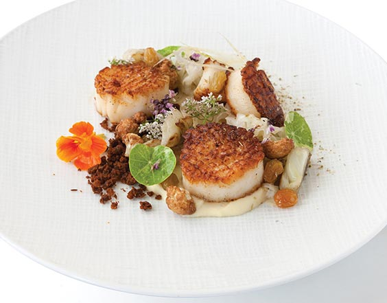 Seared Sea Scallops with Chorizo