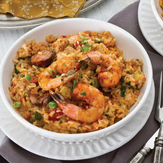 En Andouille And Shrimp Jambalaya