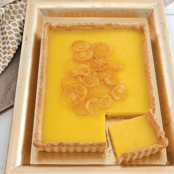 Meyer Lemon-Buttermilk Tart