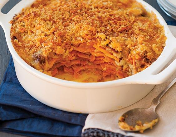 Sweet Potato & Conecuh Sausage Au Gratin Chef Ella Hart, Slidell, Louisiana