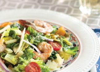 Grilled Shrimp and Caesar Dressing