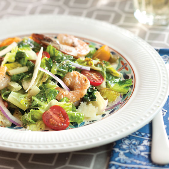Grilled Shrimp and Caesar Dressing