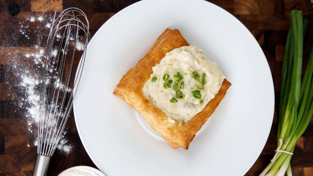 Crab and Brie Tart (photo courtesy of Collin Richie)