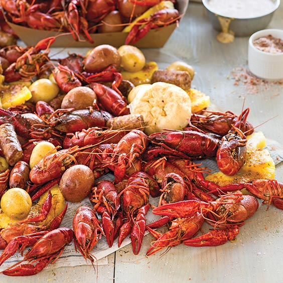 sweet and spicy crawfish boil louisiana cookin