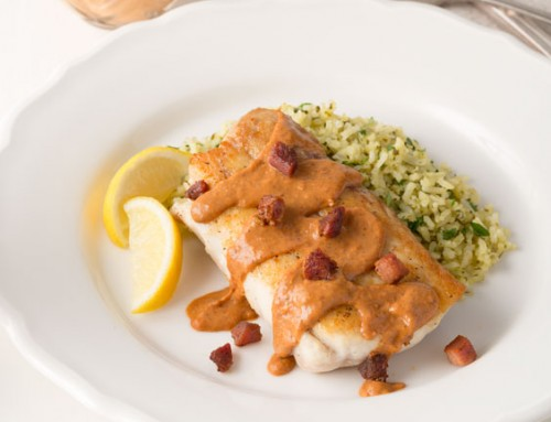 Pan-Seared Snapper with Creole Red Bean Sauce