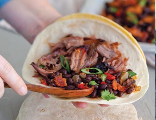 Smoked Jerk Brisket Tacos