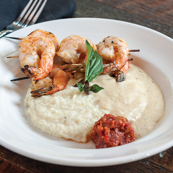 Sambal shrimp and grits
